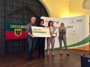 """""""Das Grüne Band"""" für den SSV Esslingen"""