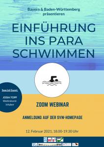 """Webinar """"Einführung ins Paralympische Schwimmen"""""""